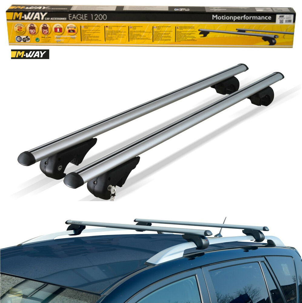 M Way Aerodynamic Lockable Aluminium Car Roof Rack Rail