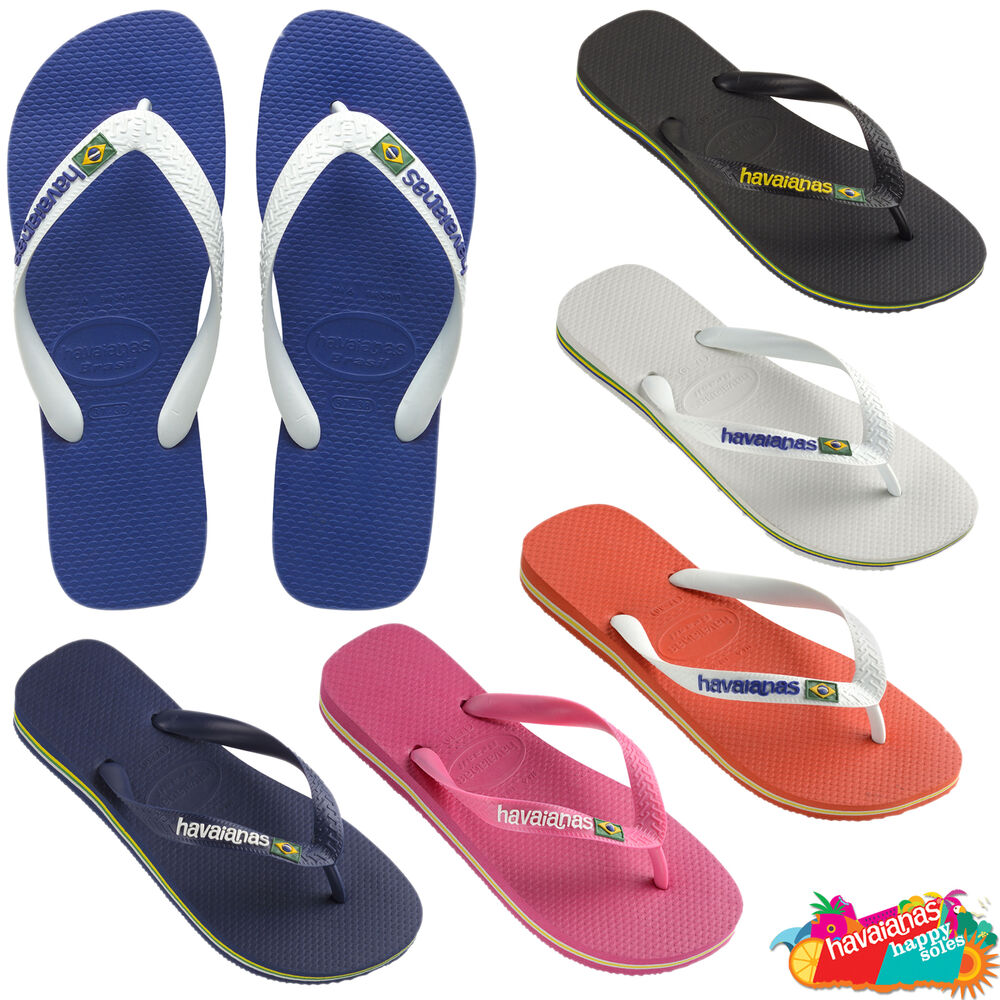 havaianas flip flops brasil logo top unisex summer beach. Black Bedroom Furniture Sets. Home Design Ideas