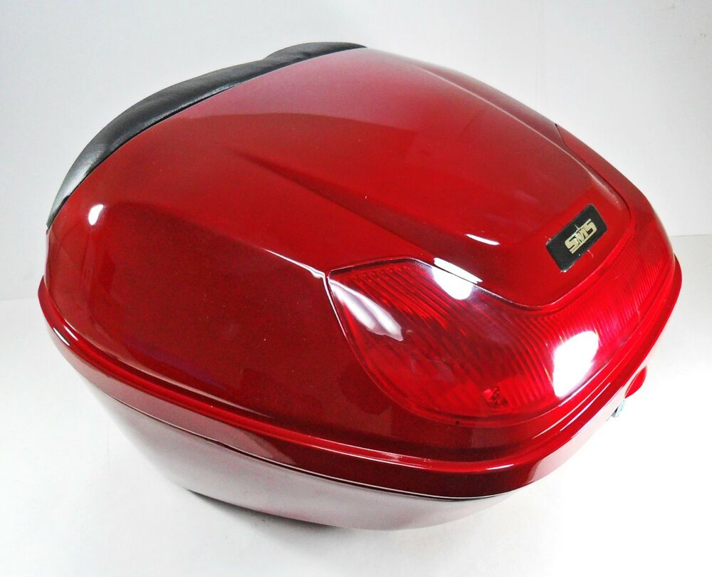 red hard case luggage box top box for scooter motorcycle 154923 ebay. Black Bedroom Furniture Sets. Home Design Ideas