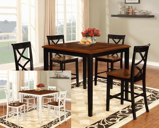 piece counter height kitchen dining room table chairs set ebay