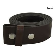 New Mens Adidas Snap On Belt Strap 100% Full Grain Leather Brown 30 32 34 40