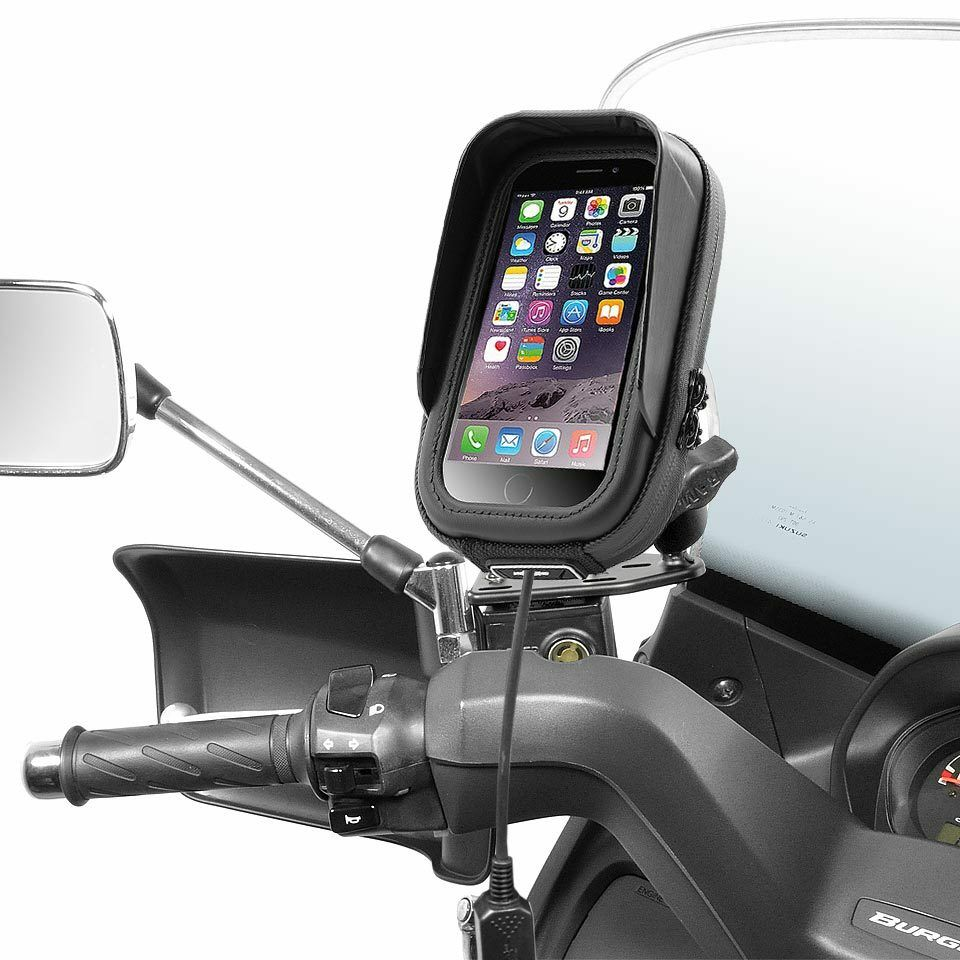 piaggio mp3 125 lt 250 holder bag waterproof apple iphone various smartphone ebay. Black Bedroom Furniture Sets. Home Design Ideas
