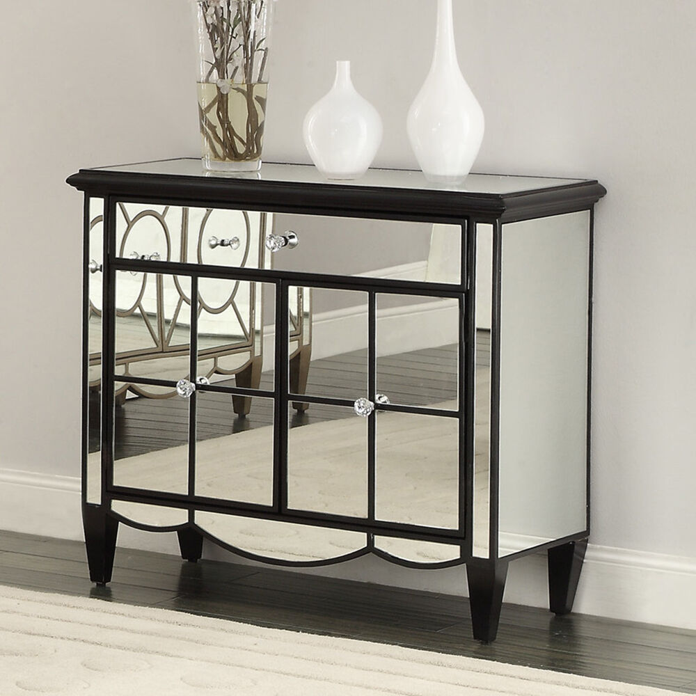 mirrored sideboard table storage cabinet chest mirrored accent table console buffet 4166