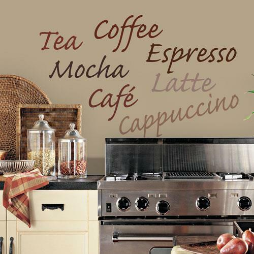 coffee wall decals vinyl sticker kitchen words wall d 233 cor