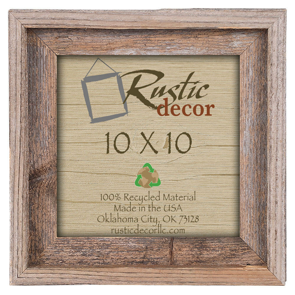 10x10 Picture Frames-Rustic Barnwood Reclaimed Wood Wall