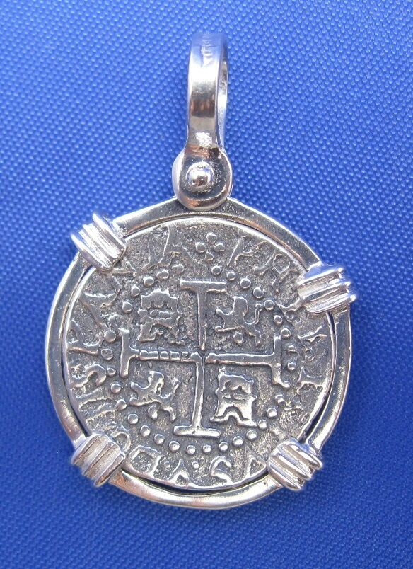Sterling silver spanish shipreck replica coin treasure for Key west jewelry stores