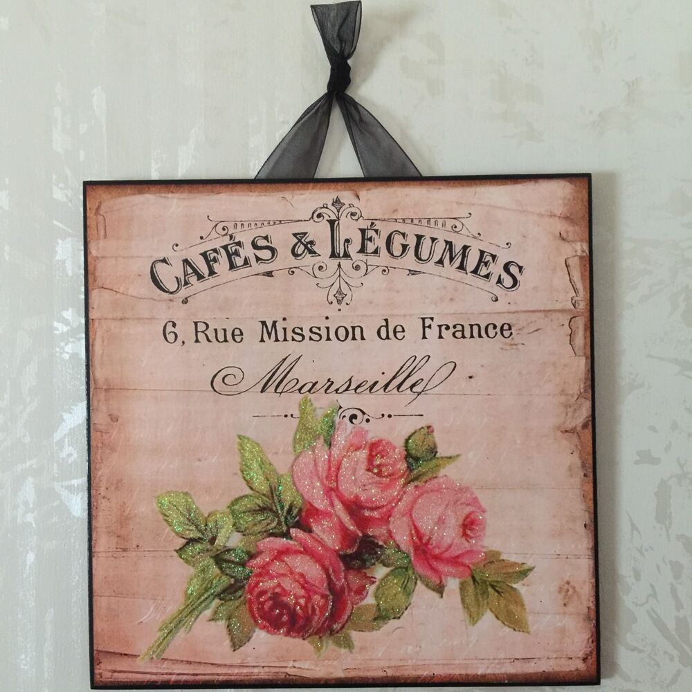 French Wall Decor Plaques
