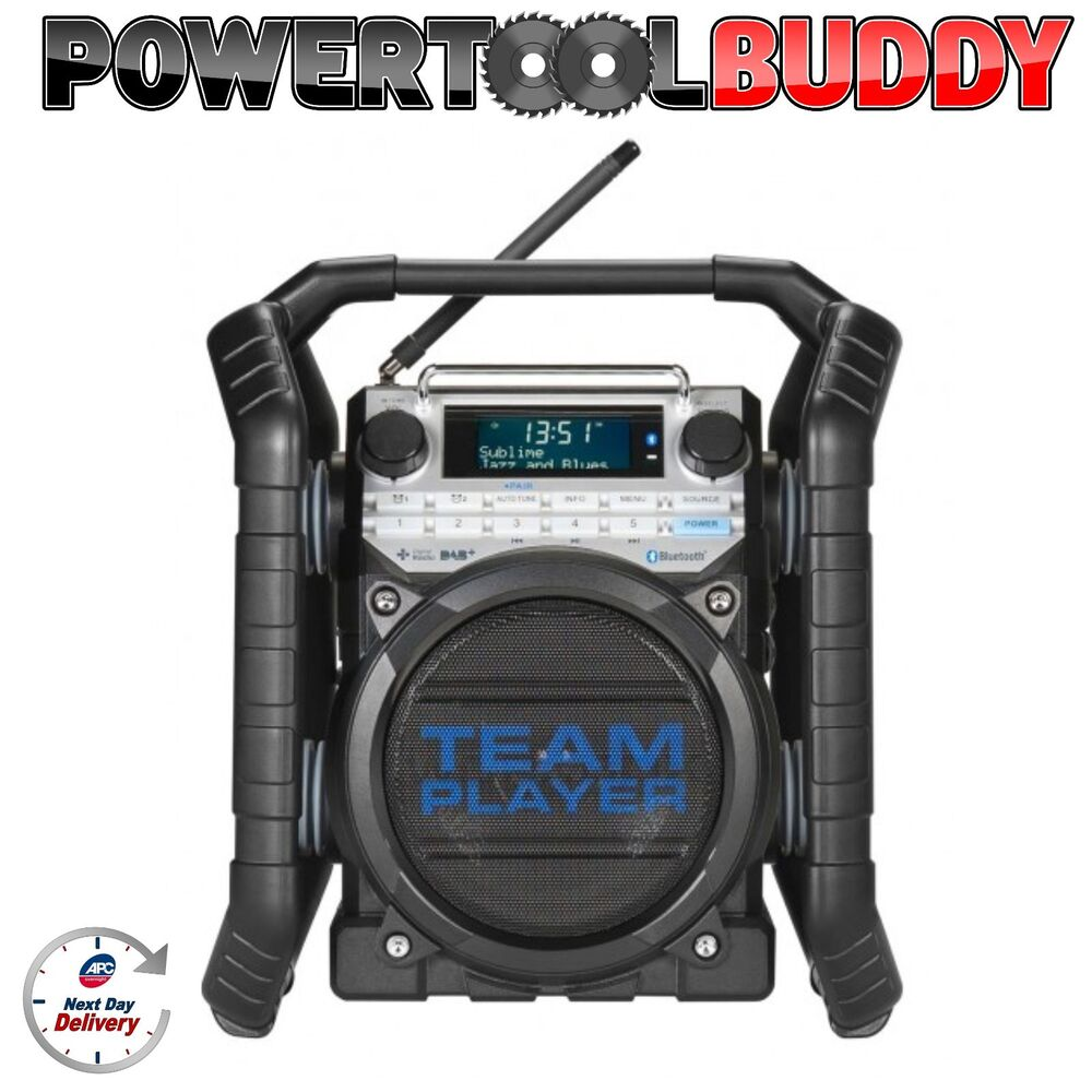 perfect pro team player dab bluetooth site work radio. Black Bedroom Furniture Sets. Home Design Ideas