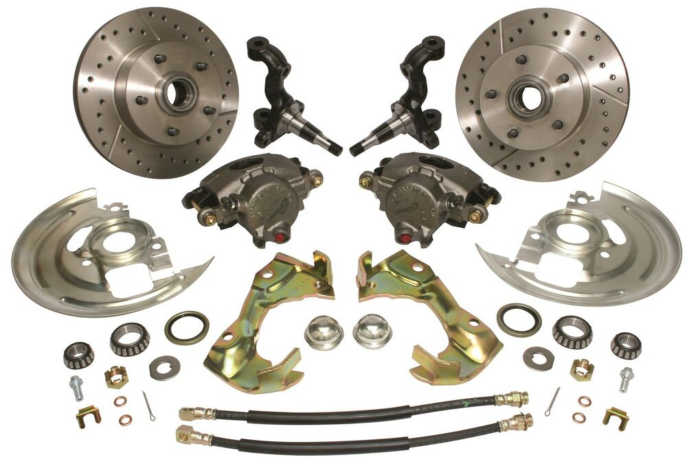 Chevy Disc Upgrade Disc Brake Kit With Spindles 5 On 4 3 4
