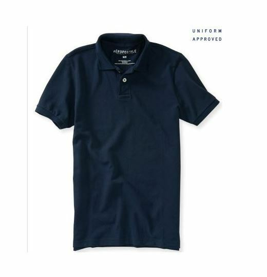 aeropostale mens uniform polo shirt navy blue m xl xxl xxxl nwt ebay. Black Bedroom Furniture Sets. Home Design Ideas
