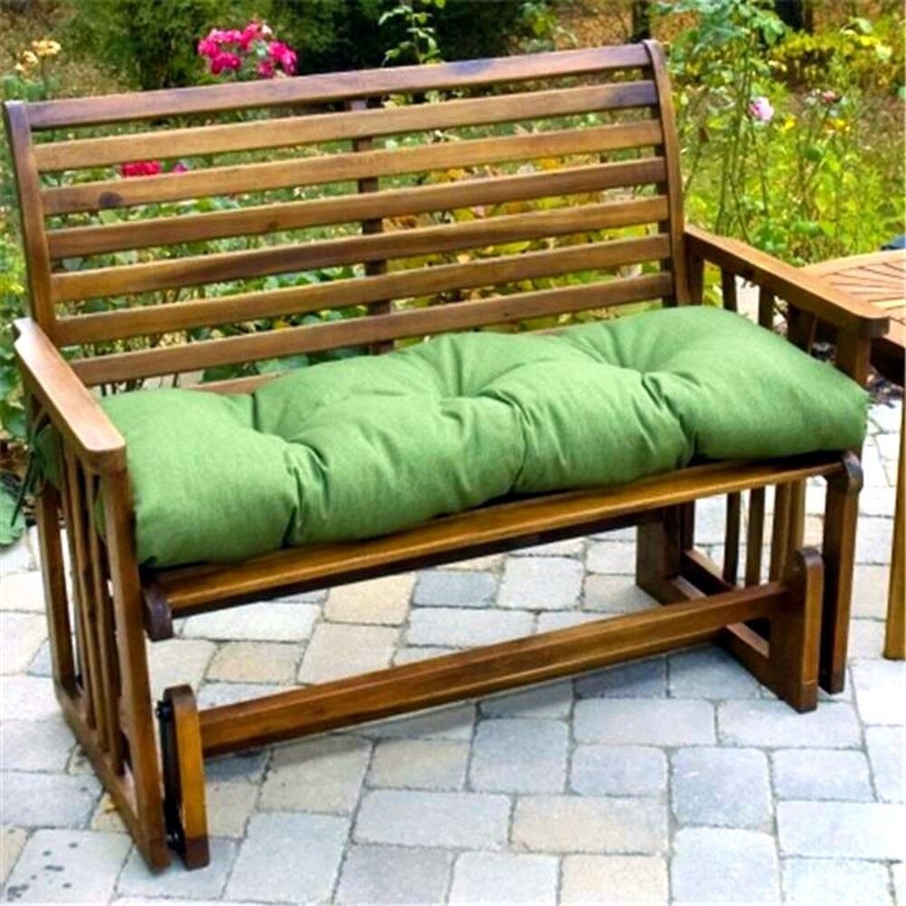 Porch Swing Cushion Glider Bench Seat Padding 52 In Tufted