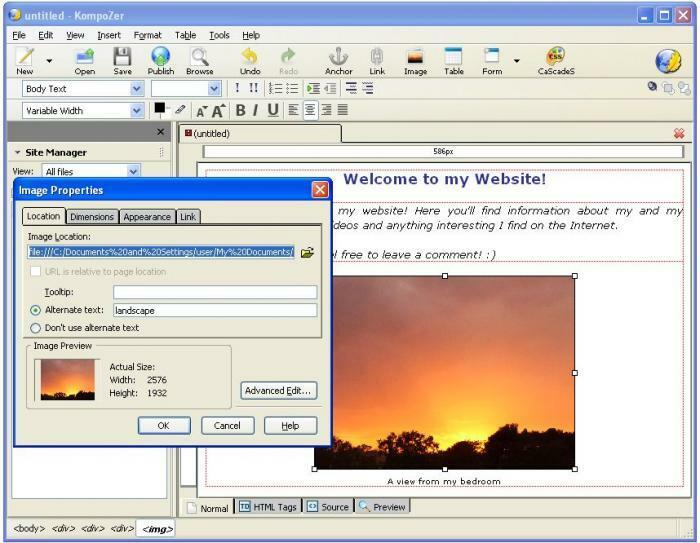 Full web design html editing editor software create for Website layout maker