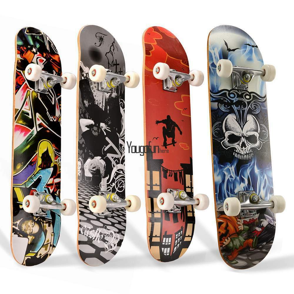 Maple Wood Deck Complete Skateboard Stained 7.8