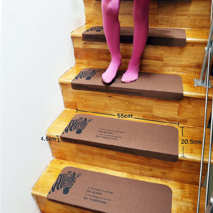 8 x22 washable stair treads non slip durable carpet stair for Durable carpet for stairs
