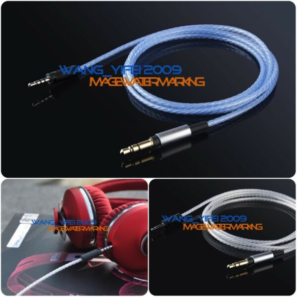 Upgrade Silver Plated OFC Cable For Sennheiser Momentum Over On Ear Headphone