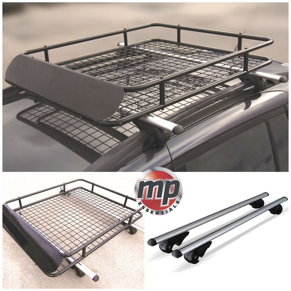 Aluminium 120cm Lockable Car Roof Rack Rail Bars Amp Roof