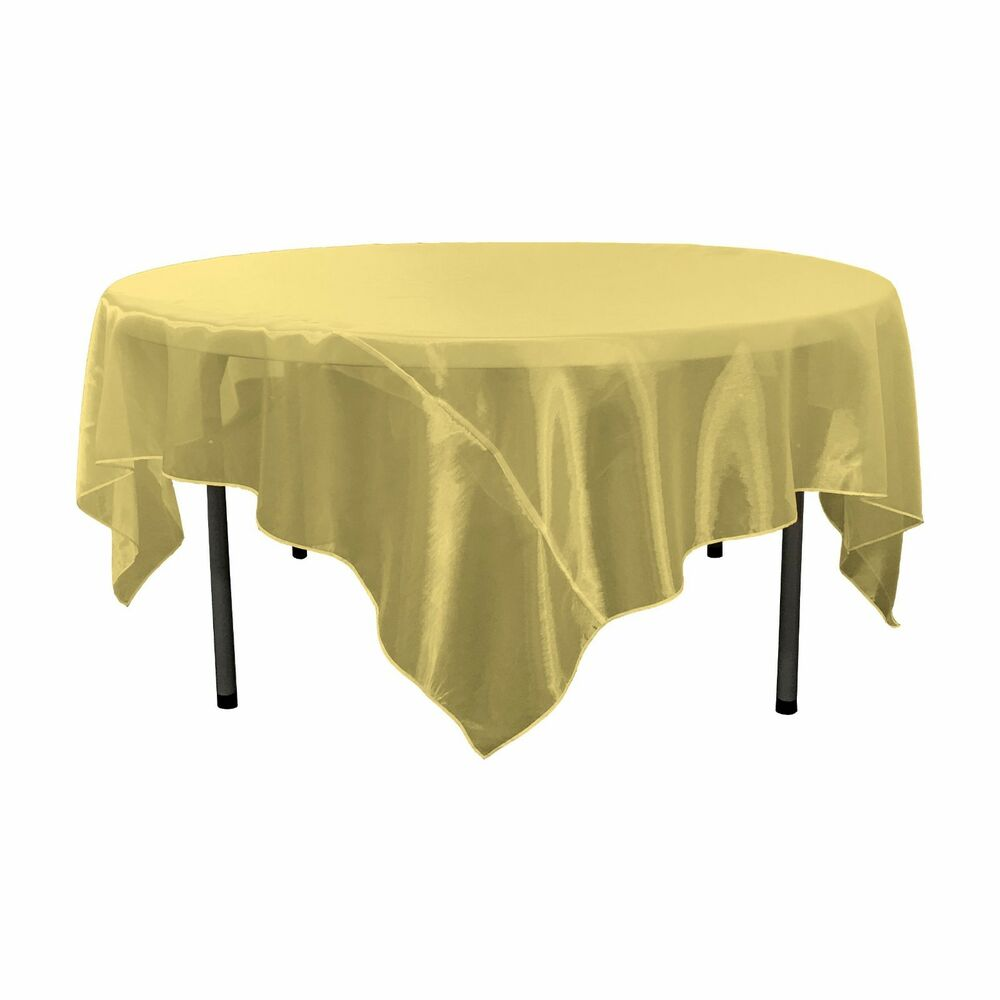La Linen Mirror Organza Square Tablecloth 72 By 72 Inch