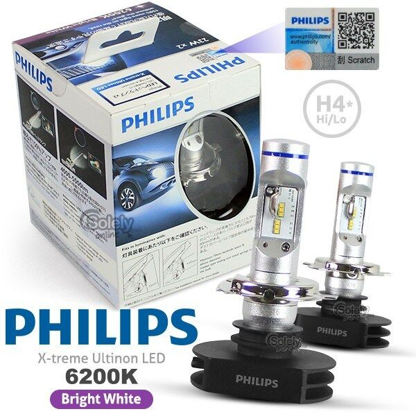 genuine pair philips h4 6200k x treme ultinon led high low beam headlight lamp ebay. Black Bedroom Furniture Sets. Home Design Ideas