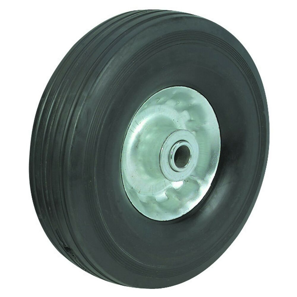10 Quot In Solid Hard Rubber Replacement Tire Wheel And Rim
