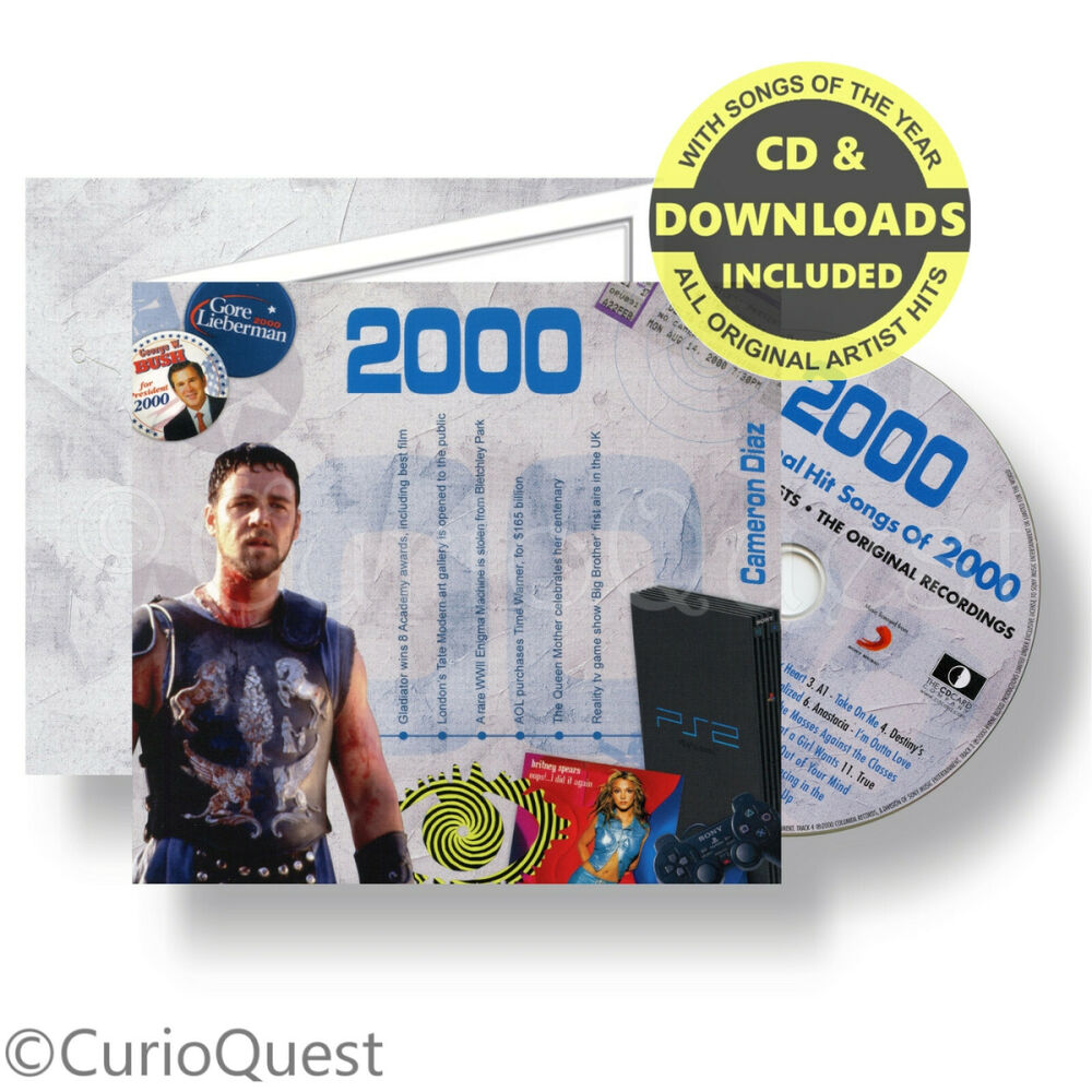 Personalised 21st Birthday Card & Gift CD Of 1996 Hit