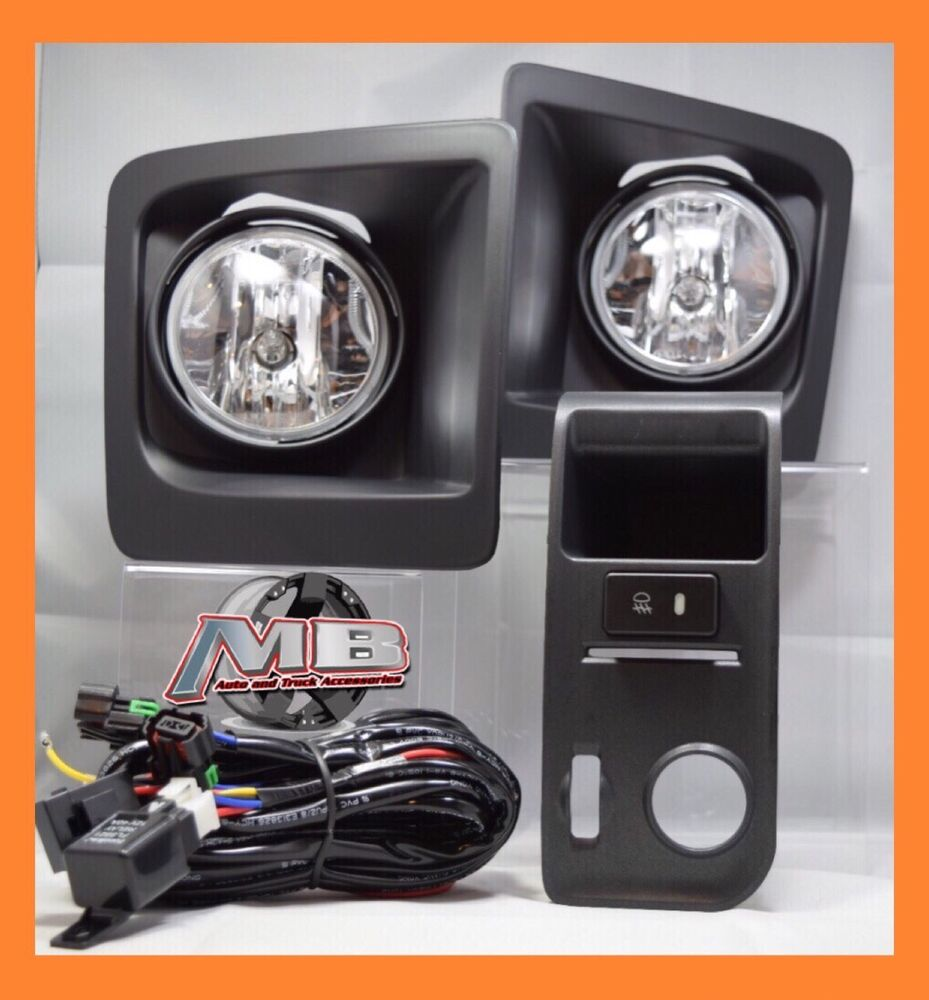 For 14 15 16 Gmc Sierra 1500 Clear Fog Light Bumper Lamp