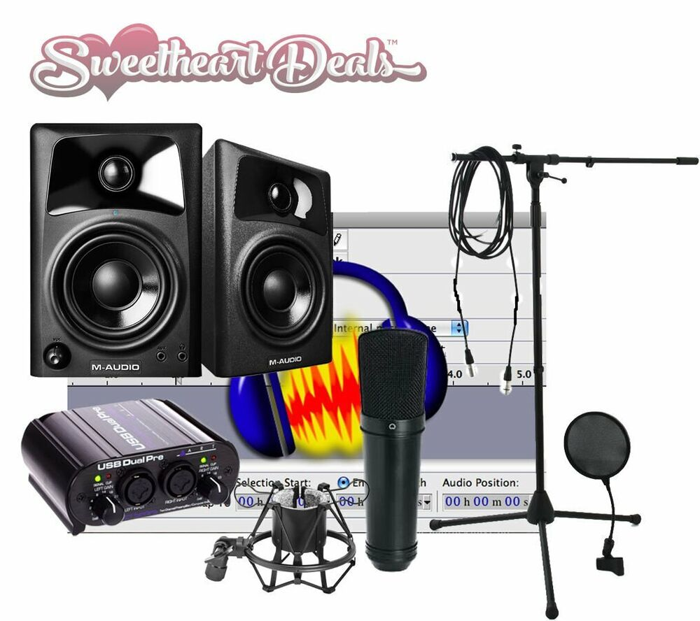 new home recording studio bundle package art tascam studio mic free shipping ebay. Black Bedroom Furniture Sets. Home Design Ideas