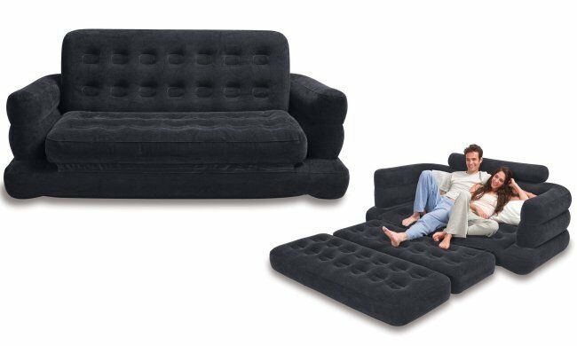 Inflatable Sofa Bed Pull Out Sleeper Couch Futon Mattress  : s l1000 from www.ebay.com size 650 x 390 jpeg 21kB