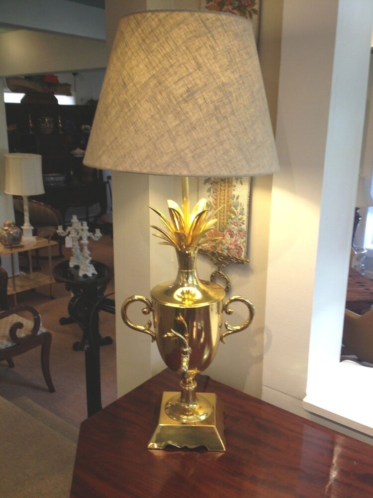 Handcrafted French Brass Pineapple Lamp Beautiful Home Decor Quality Light Ebay
