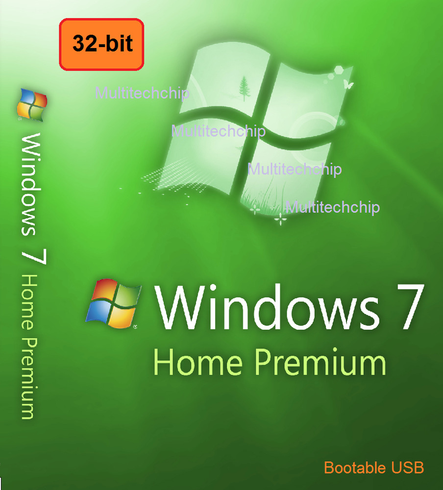 windows 7 home premium 32 bit full license 1 boot usb genuine uk ebay. Black Bedroom Furniture Sets. Home Design Ideas