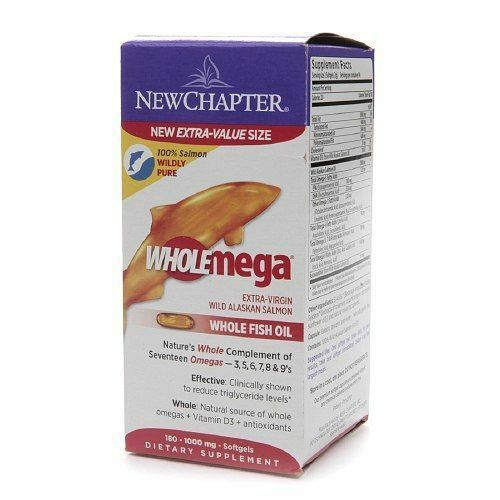 New chapter wholemega whole fish oil with omegas and for Vitamin d fish