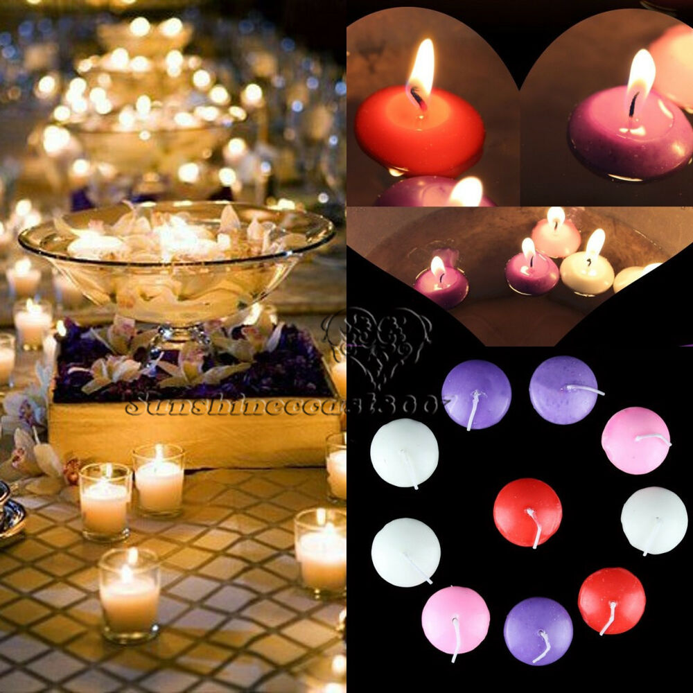 Home Decor Ideas With Candles: Unscented Round Floating Candle Disc Floater Candles