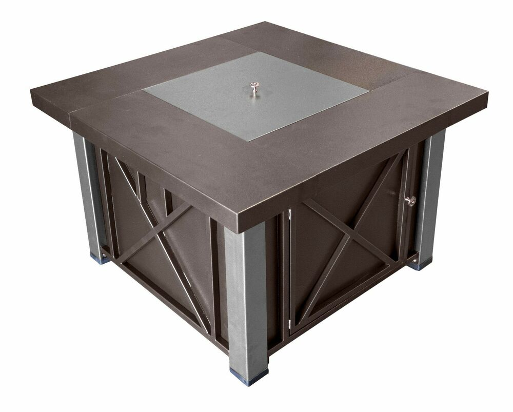 Hammered Bronze Amp Stainless Decorative Propane Fire Pit