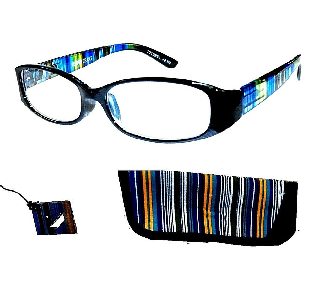 new 2 pairs foster grant rainbow reading glasses w