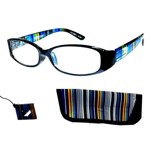 -2-pairs-foster-grant-rainbow-reading-glasses-w-stylish-cases-spring-hinge