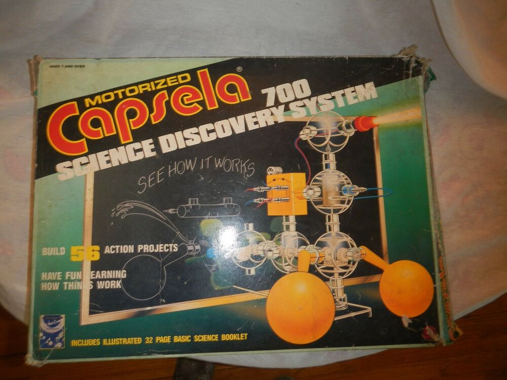 Used Vintage Capsela 700 56 Motorized Toy Discovery System
