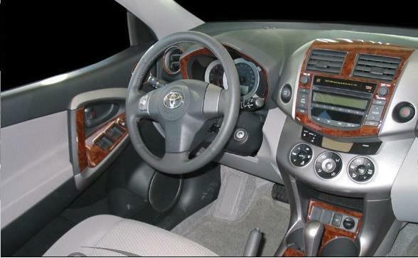 Toyota rav 4 rav4 mk iii interior burl wood dash trim kit set 09 2010 2011 2012 ebay - Kit de interior ...