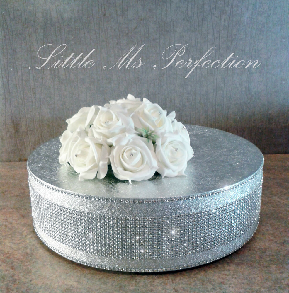 silver glitter wedding cake stand silver diamante wedding cake stand display 19862