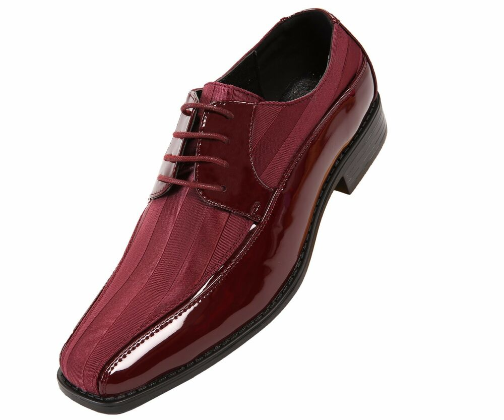 Burgundy Leather Mens Dress Shoes