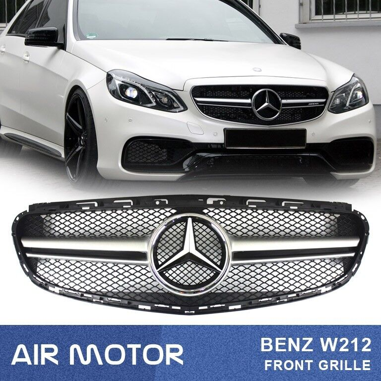 2014 16 benz e class w212 e63amg type silver front grille for 2014 mercedes benz e350 coupe accessories