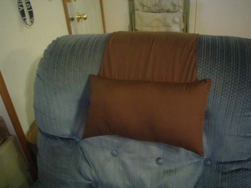 Dark Brown Stay Put Recliner Pillow For Leather Or Cloth