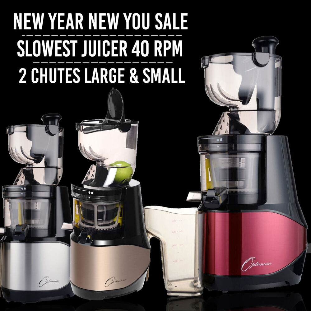 Slow Juicer 40 Rpm : Optimum 700 Slow Juicer with the Slowest Motor 40RPM eBay