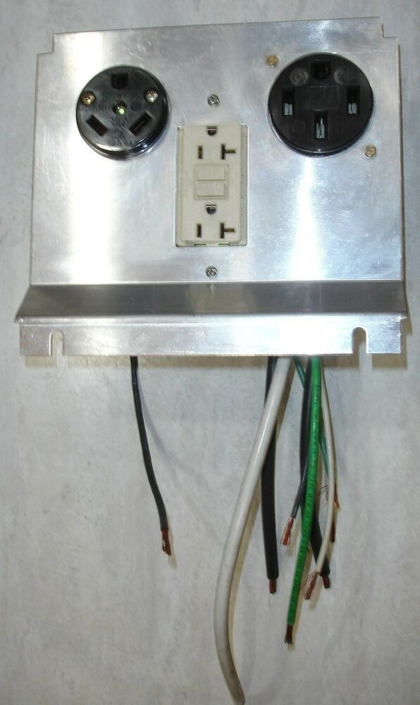 Pedestal Electrical Outlets : Powercraft pm rv power pedestal receptacle kit