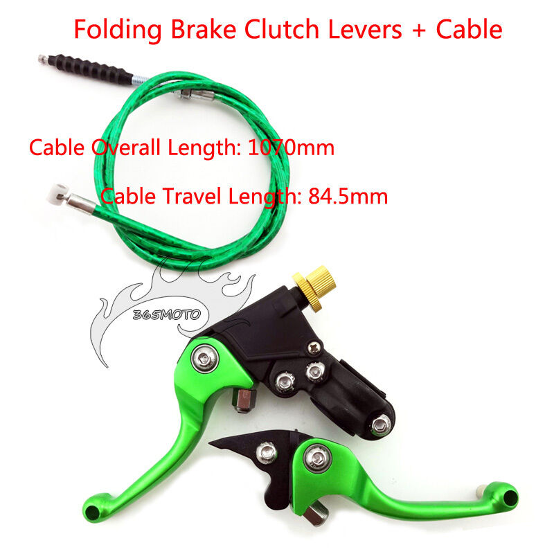 Cable Brake Lever : Green brake clutch lever cable for sdg ssr coolster crf