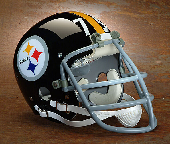 Football Helmet Stickers : Pittsburgh steelers football helmet decals numbers