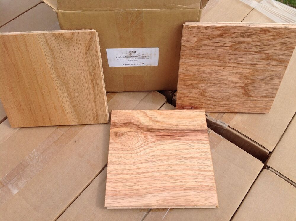 Prefinished red oak engineered wood flooring 8 x 8 for Prefinished timber flooring