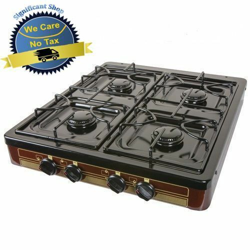 camping gas stove 4 burner portable cooking top outdoor propane backyard cooker 606955778331 ebay. Black Bedroom Furniture Sets. Home Design Ideas