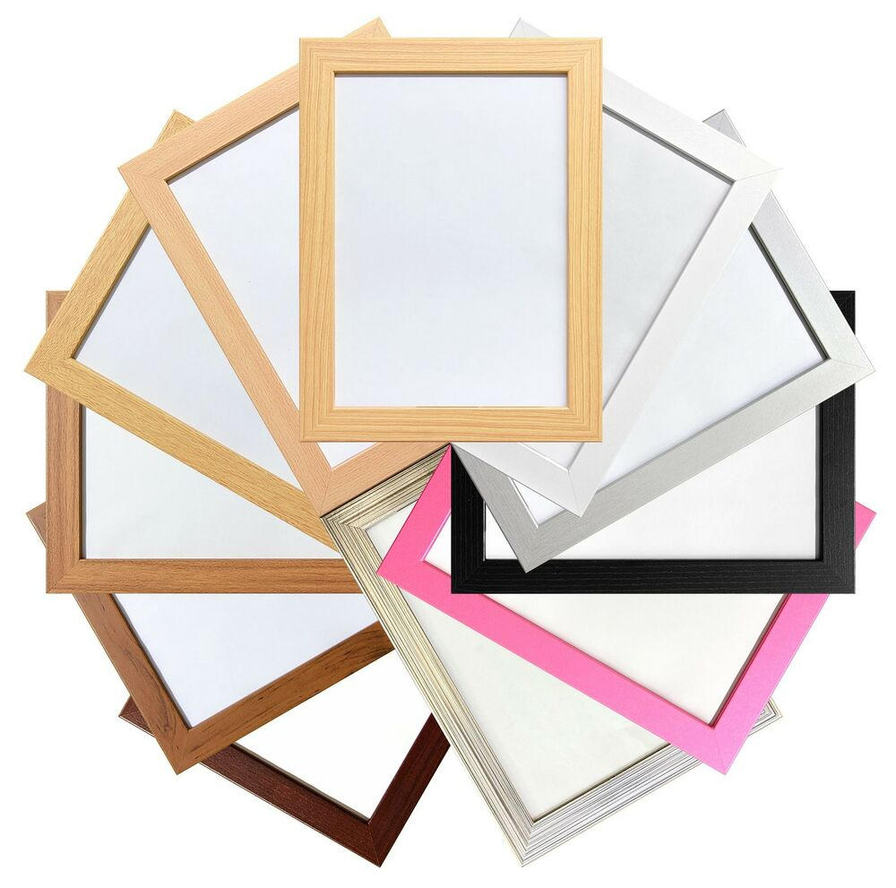 picture photo poster frames 11 colours multi sizes wall hanging standing large ebay. Black Bedroom Furniture Sets. Home Design Ideas