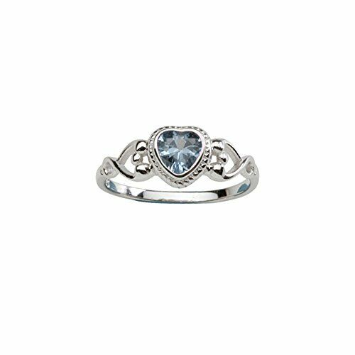 Sterling Silver September Simulated Cz Birthstone Baby