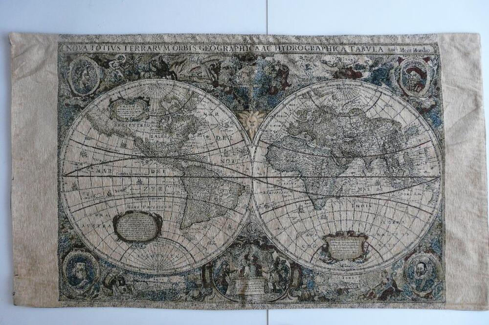 MOHAWK ANTIQUE OLD WORLD MAP WALL TAPESTRY DECOR USA eBay