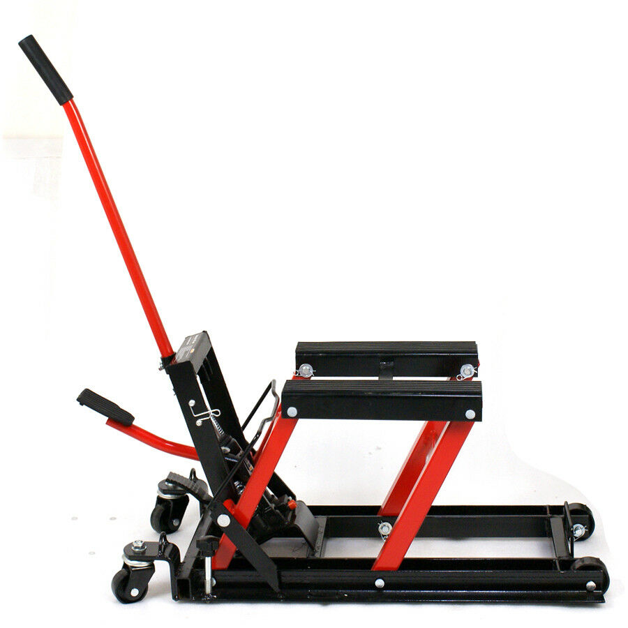 Hydraulic Motorcycle Stand : Hydraulic scissor lift jack designed for mx dirt bikes